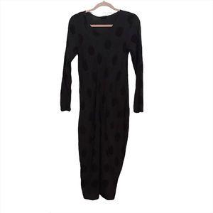Grizas Textured Linen Cotton Polka Dot Dress
